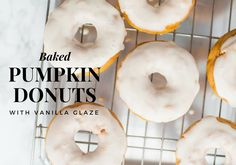 Baked Pumpkin Donuts with Vanilla Glaze recipe to make with your kids