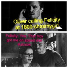 Oh Ollie, we know u LUV  Felicity!! #Olicity #Arrow