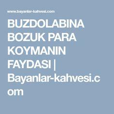 BUZDOLABINA BOZUK PARA KOYMANIN FAYDASI | Bayanlar-kahvesi.com