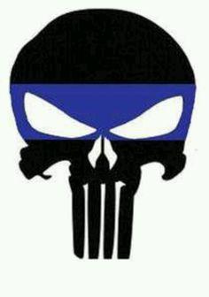 Punisher - Thin Blue Line Punisher Logo, Punisher Skull, Leo Tattoos, Tatoos, Law Enforcement Tattoos, Police Tattoo, Police Life, Leo Love, Thin Blue Lines