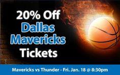 $63 (20% off) Dallas Mavericks Tickets vs Oklahoma City Thunder Fri. Jan. 18 @ 8:30pm - Crowd Seats Cheap Sports Tickets