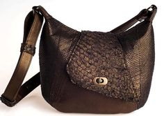 #handbag made of fish leather (perch and salmon) | Design by Gastu