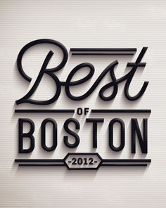 Cape Town based graphic designer and artist Jordan Metcalf was asked by Boston Magazine to create a toolkit for their 2012 'Best of Boston' issue. The work includes a lock-up for the table of contents, an opening DPS for the section, and various sub-section headers.