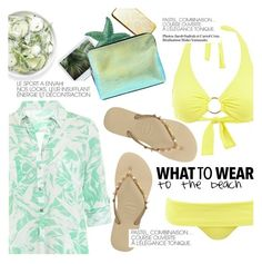 """""""what to wear: to the beach"""" by sanddollardubai ❤ liked on Polyvore featuring Melissa Odabash, 3.1 Phillip Lim and Havaianas"""