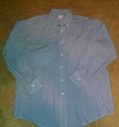 Brooks Brothers Men's Blue Dress Shirt Size 15.5 #BrooksBrothers