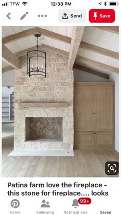 Stone Fireplace Pictures, Stone Veneer Fireplace, Tv Above Fireplace, Living Room With Fireplace, Mosaic Tile Fireplace, Austin Stone, Patina Farm, Home Repairs, Cabin Homes