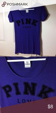 Purple Victoria's Secret causal PINK tee shirt. Everyday casual tee shirt from Victoria's Secret! PINK Victoria's Secret Tops Tees - Short Sleeve