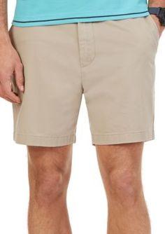 Nautica True Khaki Shorter Flat Front Shorts