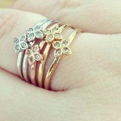 Stella & Dot Moraley Rings (set of 5).