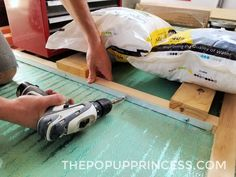 Rockwood Pop Up Camper Roof Rebuild: Interior & Ceiling - The Pop Up Princess New Pop Up Campers, Pop Up Princess, Teardrop Camper Trailer, Popup Camper, Plywood Sheets, Remodeled Campers, Camping Ideas, Ceiling, Bricolage