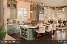 David Weekley Green Kitchen