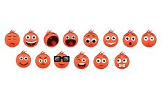 we have designed these emojis (emotion icon) for RuvixT on Behance
