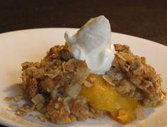 Oatmeal Peach Cobbler
