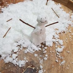 This is an easy sensory play snow which looks like snow but can also be moulded and shaped! PERFECT for when you want to build a snowman…and you live in stinking hot Australia! (and perfect for an Elf on the Shelf activity! Polar Animals, An Elf, Build A Snowman, Sensory Play, Cool Kids, Kids Fun, Elf On The Shelf, Christmas Crafts, Christmas Ideas