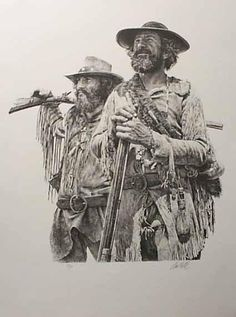 art painting Paul Calle | mountain men  Such great facial expressions !