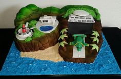 Tracy Island cake made for an avid Thunderbird fan.