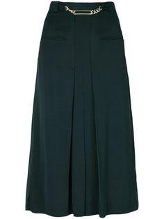 Carven pleated high-waisted skirt