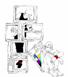 We don't believe what's on tv |-/ Clique Art