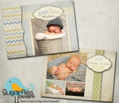 Baby Birth Announcement Templates - Baby Boy Sweetness, via Etsy.