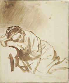 From The National Gallery, London, Rembrandt van Rijn, A young Woman sleeping (Hendrickje Stoffels) (about Drawing, × cm She Quotes, Woman Quotes, Bitch Quotes, Wisdom Quotes, Sleeping Women, Girl Sleeping, National Gallery, Women Empowerment Quotes, Female Empowerment