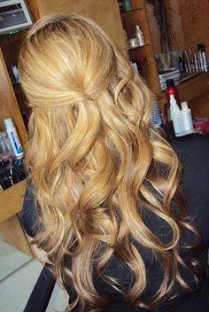 Half Up/Down Curls