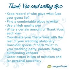 Overwhelmed by the #wedding Thank You Notes you need to write? Click through for all of our handy tips to help you!