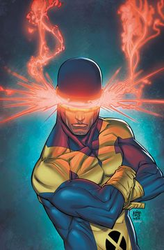 Scott Summers/Cyclops/Powers-Optic Force Blasts, Spatial Awareness, Gifted Stategist, Hand-To-Hand Combatant, and Pilot, Immunity to Havok's Plasma Blasts