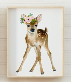 Baby animals print set Set of 4 Prints baby girl nursery Woodland Nursery Girl, Girl Nursery Themes, Forest Nursery, Nursery Prints, Nursery Wall Art, Nursery Ideas, Animal Art Prints, Flower Nursery, Art Mural