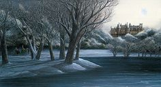 """"""" An American Castle """"  A snow picture featuring the Biltmore Estate in Asheville, North Carolina by Patricia Hobson"""