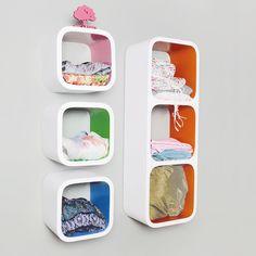 wooden cube shelf /wooden display shelf M Cube Shelves, Display Shelves, Wall Shelves, Floating Shelves, Shelf, Wooden Cubes, White Wood, Living Room Furniture, Bookcase