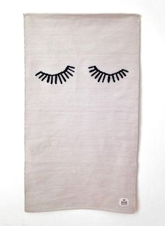 Sleepy eyes rug by GUR, how I would love this in my daughter's room! #estella #kids #decor