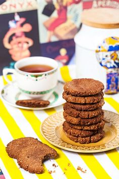 Hemsley And Hemsley: Gingernut Biscuits (almonds, ginger, sea salt, lemon, and maple)