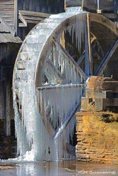 Saw a mill much like this, but much more beautiful. Top of Smoky. Mts. So cold fog froze moment touched trees. A moment in time to remember!