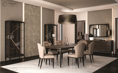 Cipriani Homood x Denino Furniture dining room sophisticated interior design for a luxurious chalet.