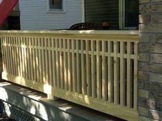 Craftsman Style Railing | Milestone: Thirty One Feet of Craftsman Style Porch Railing