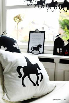 Kussen met #Sinterklaas silhouet