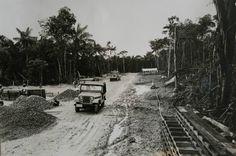 Construção de salas de aula no Campos Universitário, na então Universidade do Amazonas. Manaus. Acervo Moacir Andrade.
