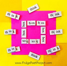 The Daily Magnet #268 Magnetic Poetry; Demagnetize Writer's Block! www.FridgePoetProject.com #writerslife