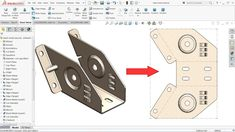 SolidWorks Sheet metal exercise - YouTube Mechanical Engineering Design, Mechanical Design, Vintage Industrial Furniture, Metal Furniture, Industrial Table, Furniture Design, Sheet Metal Drawing, Autocad Isometric Drawing, Solidworks Tutorial