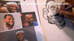 Learn How to Draw for Beginners - Lebron James Caricature Lesson 1