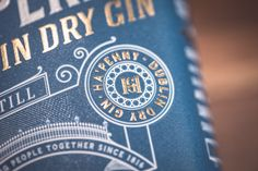 Ha'Penny Dublin Dry Gin labels designed by Drinksology