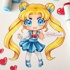 Chibi of Usagi from Sailor Moon <3 I love her #fanart