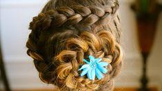 Cute Hairstyles for Long Hair - Dutch Flower Braid Tutorial