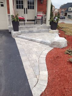 Best Paver Patio Design Ideas images in 2020 - Page 37 of 56 - My Lovely Home Design Driveway Design, Driveway Landscaping, Patio Design, Garden Design, Landscaping Ideas, Patio Ideas, Garden Ideas, Outdoor Landscaping, Backyard Ideas
