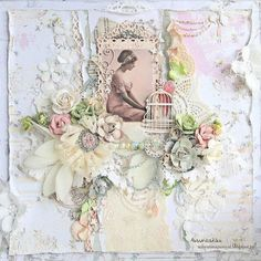 "Scrapiniec inspirations on blogspot: Shabby chic layout ""Sad angel"""