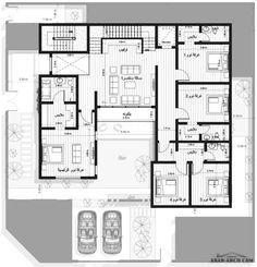 مخطط فيلا دورين وشقه بالملحق العلوي مساحة الارض 25x25 تصميم شركة فأس Arab Arch Architectural House Plans Home Room Design House Plans