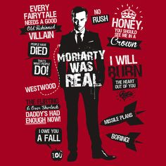 """""""Moriarty Quotes"""" T-Shirts & Hoodies by Tom Trager 