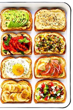 Hummus Toast is fun to customize with your favorite toppings, and makes for a de. - Hummus Toast is fun to customize with your favorite toppings, and makes for a de. Hummus Toast is fun to customize with your favorite toppings, and . Healthy Meal Prep, Healthy Breakfast Recipes, Brunch Recipes, Vegetarian Recipes, Cooking Recipes, Healthy Recipes, Recipes With Hummus, Tasty Snacks, Easy Recipes