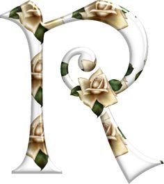 Alfabeto Florido PNG...R