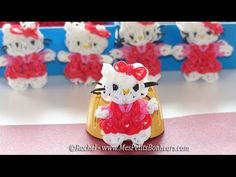 Hello Kitty Rainbow Loom en élastiques - Tuto français - YouTube